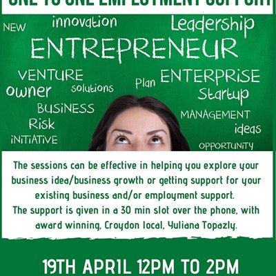 Entrepreneurship/Start-up  &  1-1 Employment support - for Croydon parents